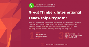 Think Different Global Great Thinkers International Fellowship