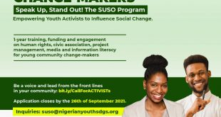 SUSO Program for Young Changemakers in Nigeria